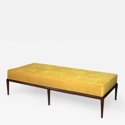 T H Robsjohn Gibbings T H Robsjohn Gibbings Midcentury DayBed in velvet and wood restored 1950s
