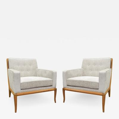 T H Robsjohn Gibbings T H Robsjohn Gibbings Pair of Classic Club Chairs1950s