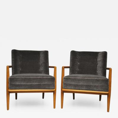 T H Robsjohn Gibbings T H Robsjohn Gibbings Pair of Lounge Chairs