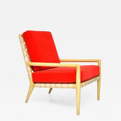T H Robsjohn Gibbings T H Robsjohn Gibbings Strapped Lounge Chair