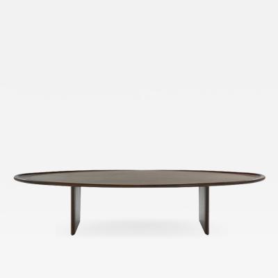 T H Robsjohn Gibbings Walnut Coffee Table Model 3304 by T H Robsjohn Gibbings c 1950s