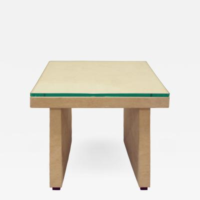 T Style Occasional Table in Ultrasuede 1970s