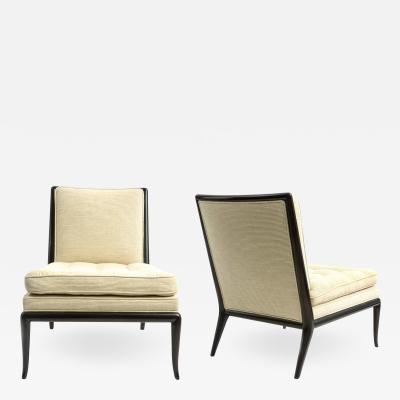 TH Robsjohn Gibbings A Pair of T H Robsjohn Gibbings Slipper Chairs
