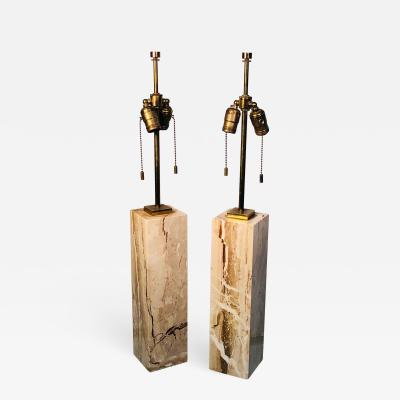 TH Robsjohn Gibbings Modern Brass and Marble Lamps by T H Robsjohn Gibbings