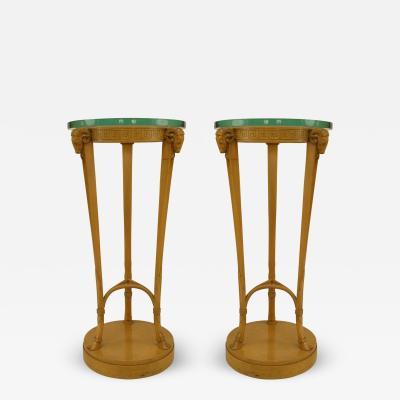 TH Robsjohn Gibbings Pair of American Art Moderne Sycamore Pedestals