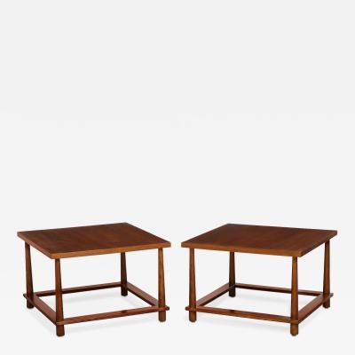 TH Robsjohn Gibbings Pair of Large Scale Side Tables by TH Robsjohn Gibbings