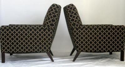 TH Robsjohn Gibbings Pair of Lounge Chairs by T H Robsjohn Gibbings 1954 for Widdicomb