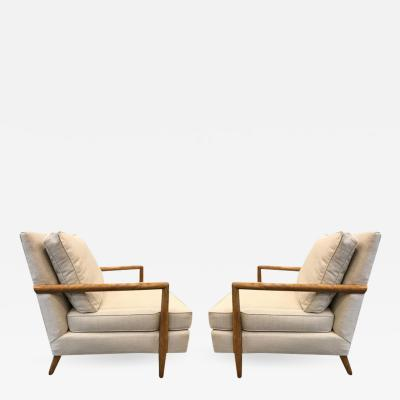 TH Robsjohn Gibbings Pair of Robsjohn Gibbings Style Lounge Chairs