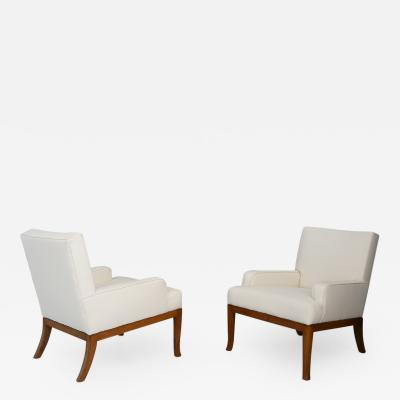 TH Robsjohn Gibbings Pair of armchairs by Robsjohn Gibbings Saridis of Athens restored 50s