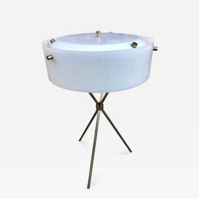 TH Robsjohn Gibbings Robsjohn Gibbings Chromed Tripod Table Lamp for Hansen