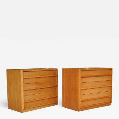 TH Robsjohn Gibbings Robsjohn Gibbings Pair of Cabinets Bedside Tables