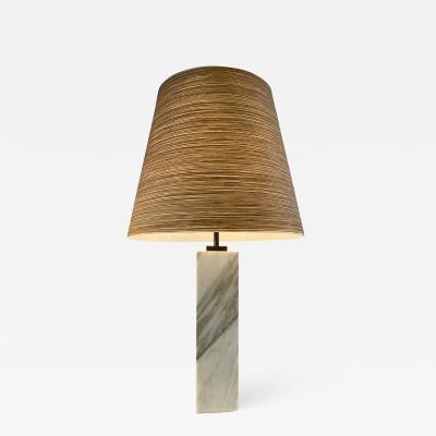 TH Robsjohn Gibbings T H ROBS JOHN GIBBINGS MARBLE LAMP FOR HANSEN
