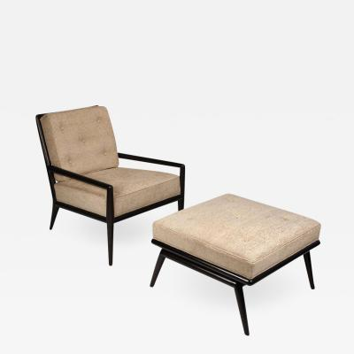 TH Robsjohn Gibbings T H Robsjohn Gibbings Lounge Chair and Ottoman for Widdicomb