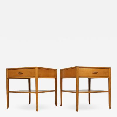 TH Robsjohn Gibbings T H Robsjohn Gibbings for Widdicomb Bleached Walnut Nightstands