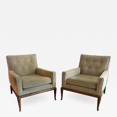 TH Robsjohn Gibbings T H Robsjohn Gibbings for Widdicomb Lounge Chairs Pair