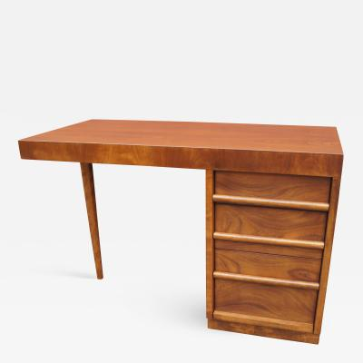 TH Robsjohn Gibbings Walnut Desk by T H Robsjohn Gibbings for Widdicomb