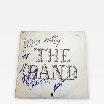 THE BEST OF THE BAND AUTOGRAPHED RECORD ALBUM