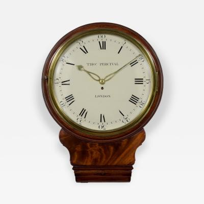 THOMAS PERCIVAL LONDON An early 19th century mahogany trunkdial timepiece of exceptional quality