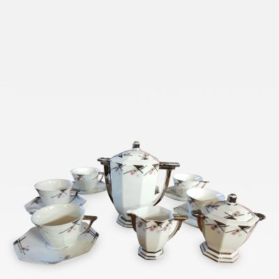 TLB Limoges TLB Limoges Art Deco CoffeeTea or Chocolate Set
