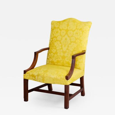 TRANSITIONAL CHIPPENDALE LOLLING CHAIR