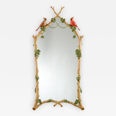 TWIG IVY WITH CARDINALS MIRROR