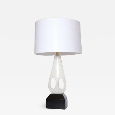 Table Lamp Mid Century Modern Sculptural carved marble Italy 1950s
