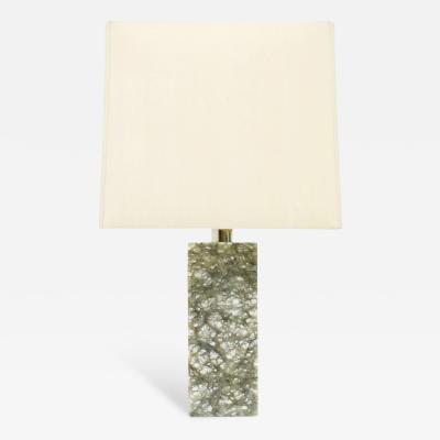 Table Lamp with Grey and Withe Marble Base 1960s