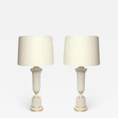 Table Lamps Pair Classical Modern porcelain urns 1930s