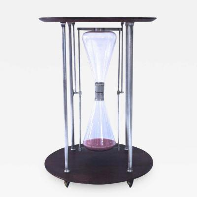 Table in Hourglass Shape Glass Hourglass Circa 1970 France