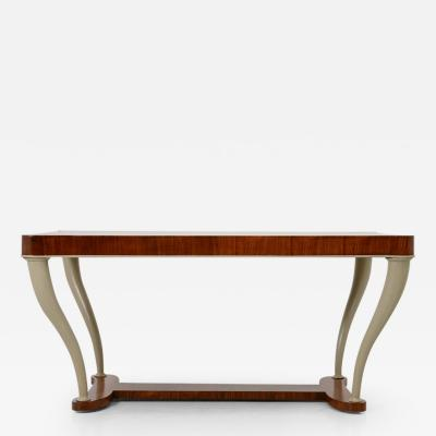 Table in macassar wood with painted legs Italy 1930
