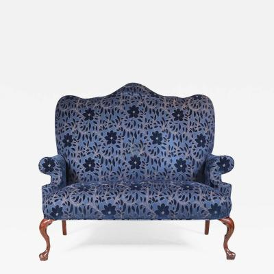 Tall Back Queen Anne Style Loveseat