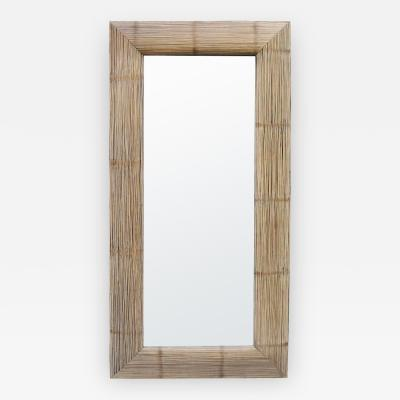 Tall Bamboo Modernist Mirror