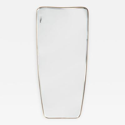 Tall Beveled Shaped Mirror Italy 1950s