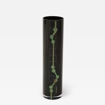 Tall Etched Glass Vase from La Cuplle