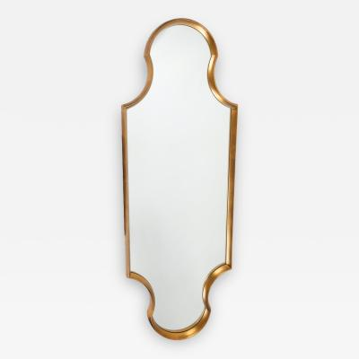 Tall Keyhole Shaped Mirror with GIlt Finish Circa 1960s