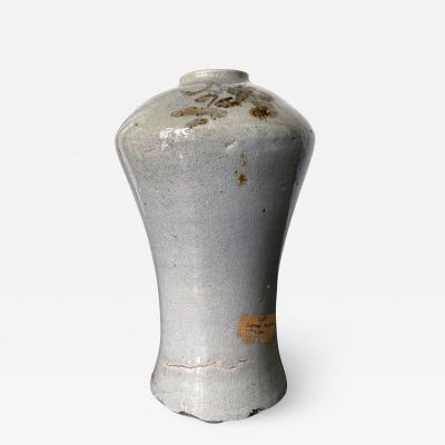 Tall Korean Ceramic Storage Jar Joseon Dynasty