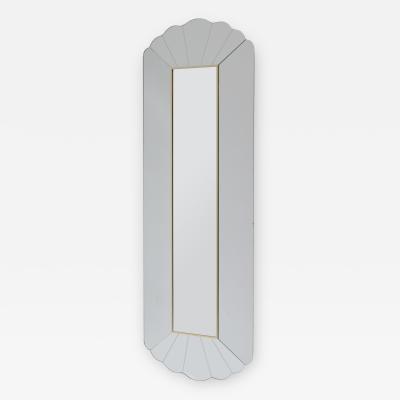 Tall Modernist Italian Mirror