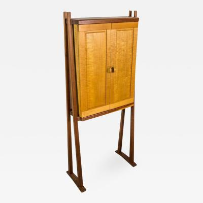 Tall Studio Cabinet in Wood by an American Craftsman