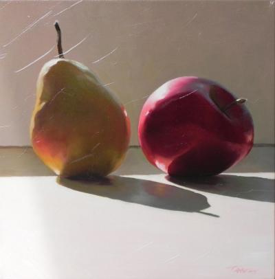 Tania Darashkevich Sunbathing Still Life with Fruit