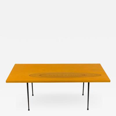Tapio Wirkkala 9011 Birch and Inlaid Teak Coffee Table for Asko
