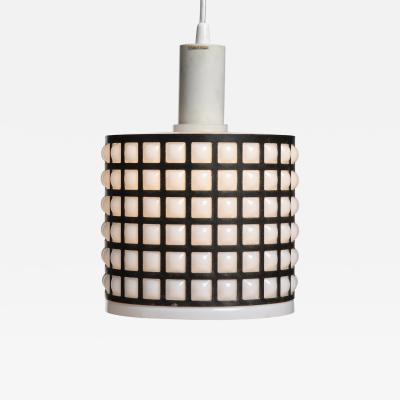 Tapio Wirkkala TAPIO WIRKKALA GRIDDED GLASS AND BRONZE CEILING PENDANT