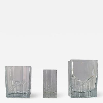Tapio Wirkkala Tapio Wirkkala for Iittala Three vases in art glass