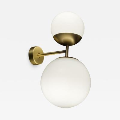 Tato Italia Biba Applique Wall Lamp in Satin Brass