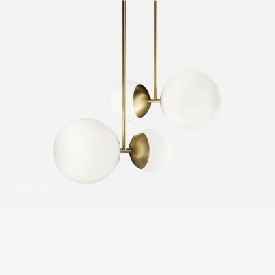Tato Italia Biba Sospensione Ceiling Lamp in Satin Brass