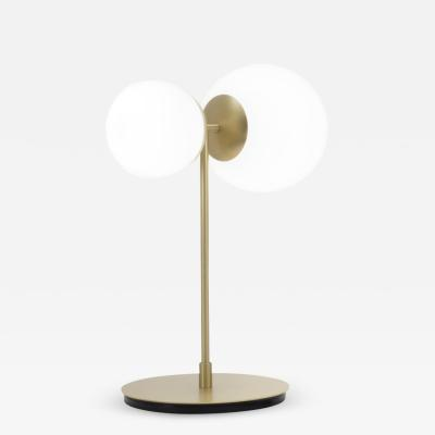 Tato Italia Biba Tavolo Table Lamp in Satin Brass