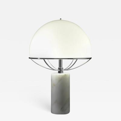 Tato Italia Jil Table Lamp in Chrome and White Glass