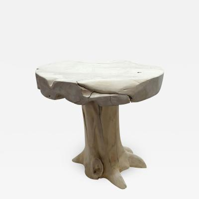 Teak Bleached Round Table