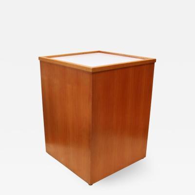 Teak Mid Century Light Box Display Pedestal