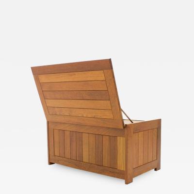 Teak Wood Blanket Box Chest by O Schj ll B K Handest for Randers Denmark 1966