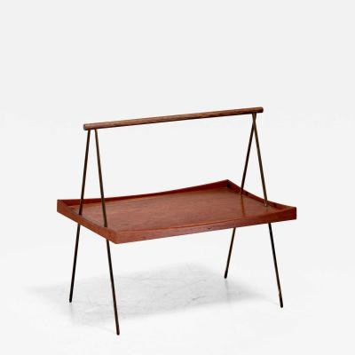 Teak and brass tea table Denmark 1950s